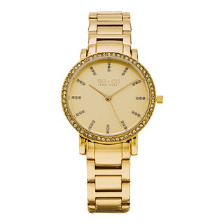 SO&CO New York Women's Madison Quartz Goldtone Stainless Steel Crystal Bracelet Watch