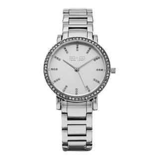 SO&CO New York Women's Madison Quartz Silvertone Stainless Steel Crystal Bracelet Watch