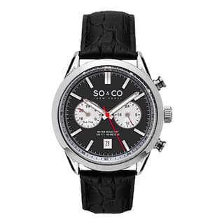 SO&CO New York Men's Monticello Quartz Black Leather Strap Watch|https://ak1.ostkcdn.com/images/products/10410884/P17511517.jpg?impolicy=medium