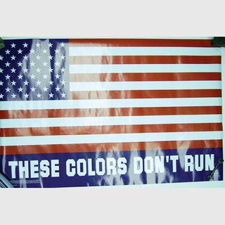 Colors Don't Run American Flag Poster