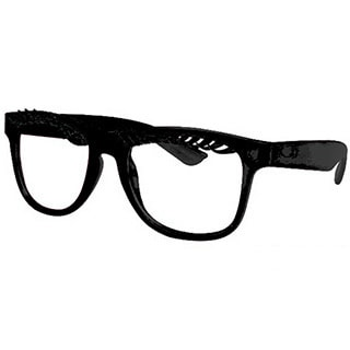 Unisex Eyelash Glasses with Black Frames