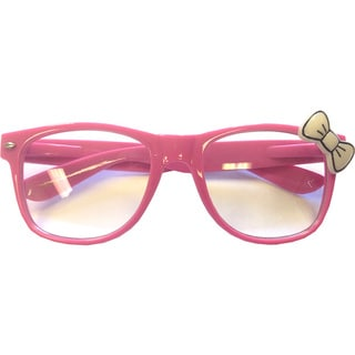 Pink Glasses with White Bow