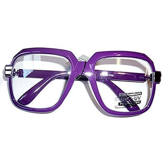 Oversized Purple Hip Hop Glasses