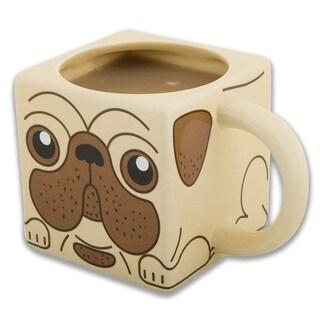 Pug Mug Square 12-ounce Ceramic Cup