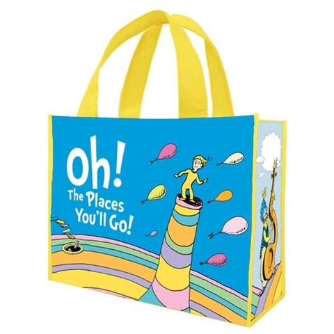 Dr. Seuss Oh The Places You'll Go Large Recycled Shopper Tote Bag