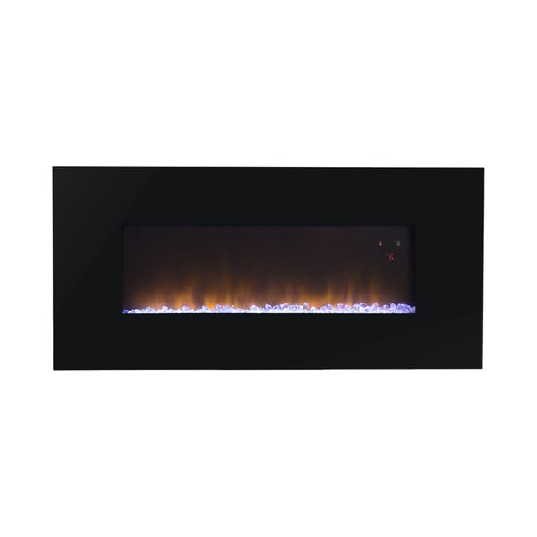 Shop Paris 41 Inch Wide Wall Mount Firebox Free Shipping