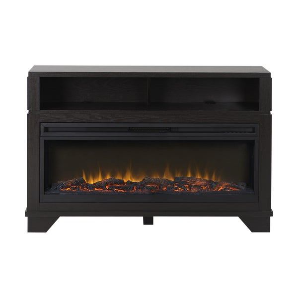 Nereto 48 Inch Wide Media Fireplace In Black Free