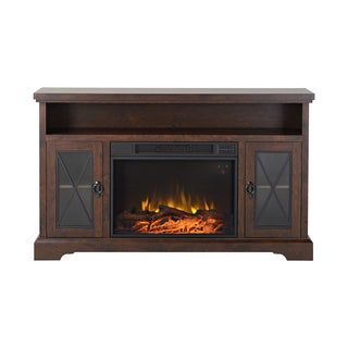 Padova 57.5-inch Wide Media Fireplace in Walnut