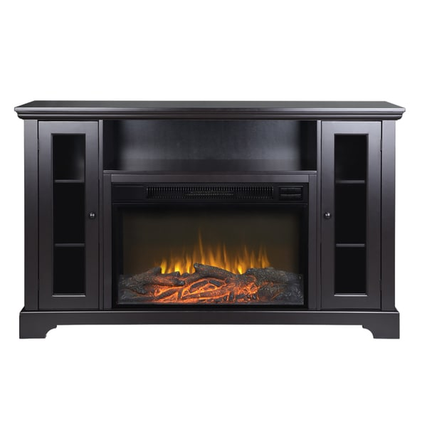 Shop Kingwood 57 Inch Wide Media Fireplace In Espresso