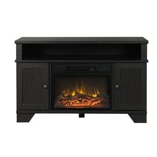 Hamilton 44.5-inch Wide Media Fireplace in Black Oak