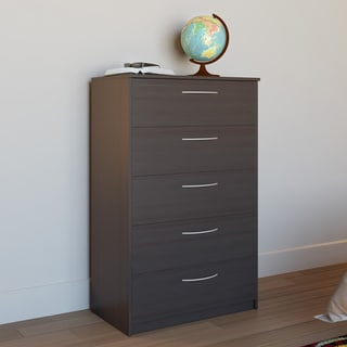Wooden Anti-tip Freestanding 5-drawer Chest