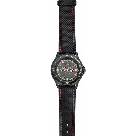 Kipling Racing Black Boy's Quartz Watch.