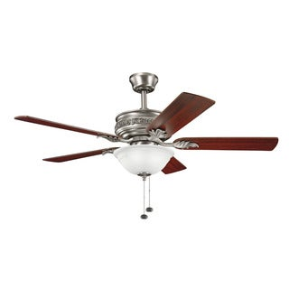 Kichler Lighting Athens Collection 52-inch Antique Pewter Ceiling Fan with Light