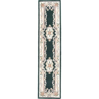 Heritage Green Runner Rug (2.5' x 10')
