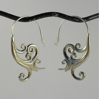Unfolding Life' by Spirit Tribal Fusion Dangle Earrings (Indonesia)