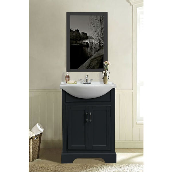 24 inch dark grey sink vanity free shipping today