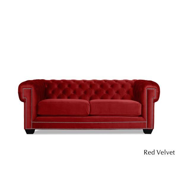 Shop Charles Chesterfield Velvet Tufted Sofa - Free Shipping ...