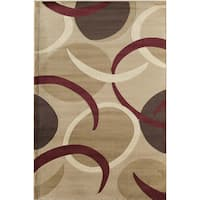 "Easton Gold Geometric Area Rug (3'11"" x 5'3"") - 3'11 x 5'3"