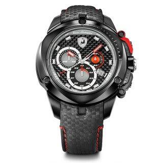 Tonino Lamborghini Men's Shield Series Black Chronograph Watch