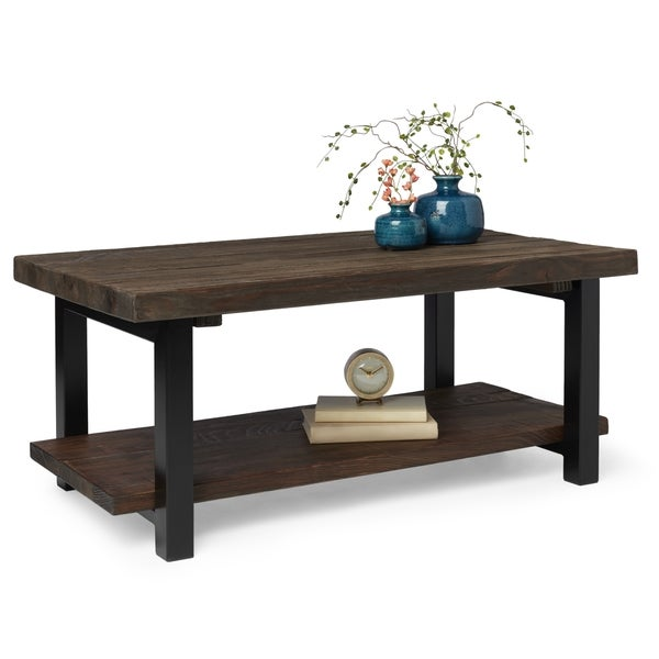 Alaterre Pomona Reclaimed Wood And Metal 42 Inch Coffee Table   Free  Shipping Today   Overstock.com   17511833