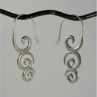 Handmade Koru Koru Spirit Tribal Fusion Dangle Earrings (Indonesia)