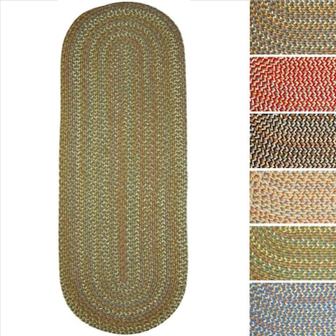 Cozy Cove Indoor/Outdoor Oval Braided Rug by Rhody Rug (2' x 6') - 2' x 6' Runner