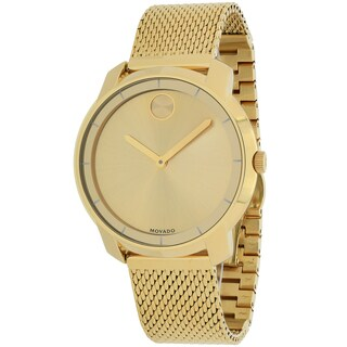 Movado Women's Bold Round Gold Ion-Plated Stainless Steel Mesh Bracelet Watch