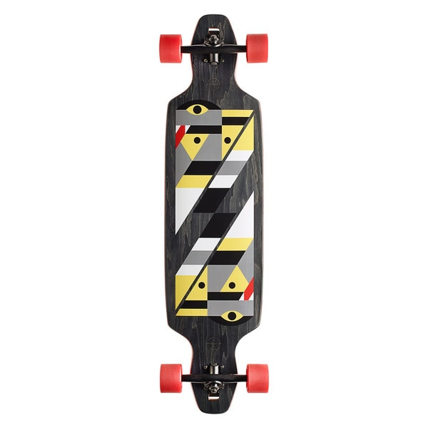GoldCoast Serpentagram Black Drop Through Complete Longboard