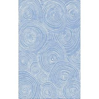 Juniper Blue Swirls Area Rug (3' x 5')