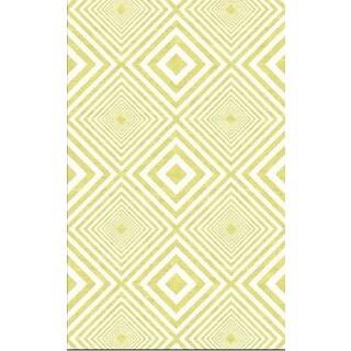 Juniper Yellow Diamonds Area Rug (3' x 5')