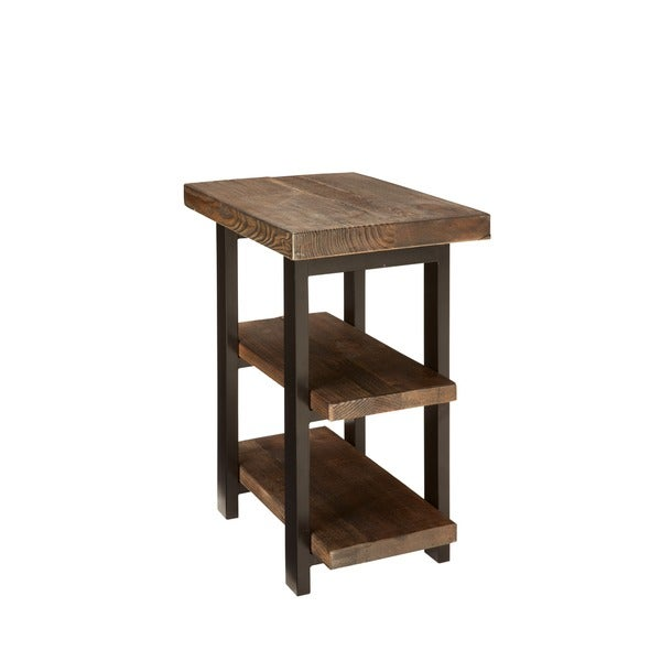 Alaterre Pomona 2 Shelf Metal And Reclaimed Wood Rustic End Table   Free  Shipping Today   Overstock.com   17511912
