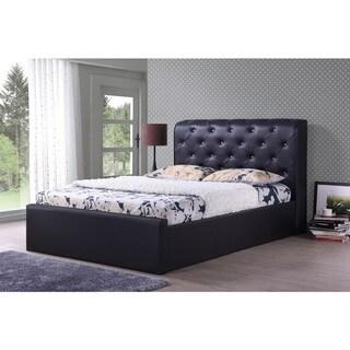 Hodedah Leather Platform Bed