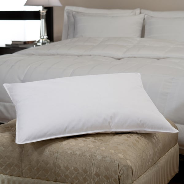 Medium-Firm Density White Down and Feather Chamber PIllow