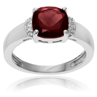 Journee Collection Sterling Silver Garnet Topaz Accent Ring