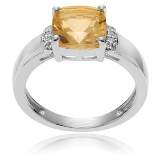 Journee Collection Sterling Silver Citrine Topaz Accent Ring
