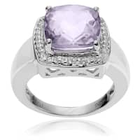 Journee Collection Sterling Silver Pink Amethyst Topaz Ring