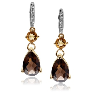 Journee Collection 14k Goldplated Sterling Silver Gemstone Post Earrings