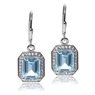 Journee Collection Sterling Silver Topaz Dangle Earrings