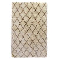Elegante Hand-woven Diamond Shag Area Rug by Kosas Home