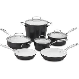 Cuisinart Elements Pro Induction Nonstick 10-Piece Cookware Set, Black