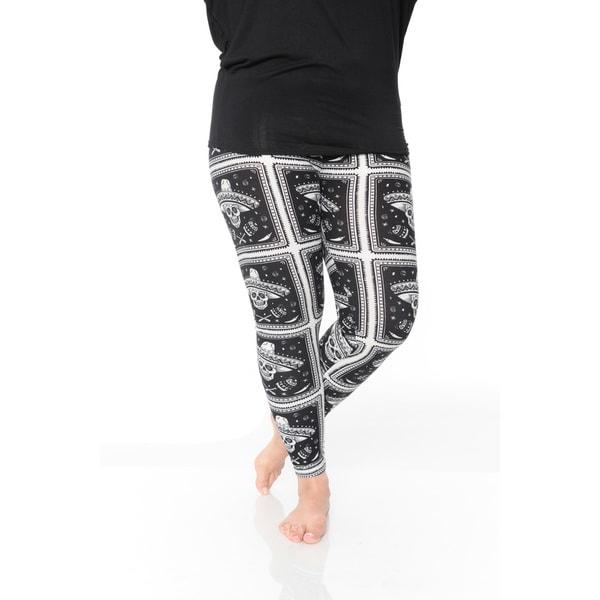 58c18ae207a Shop White Mark Women s Plus Size Printed Leggings - Free Shipping ...