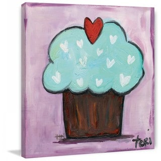 "Marmont Hill - ""Purple Heart Cake"" by Tori Campisi Painting Print on Canvas"