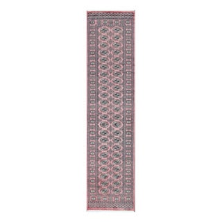 Herat Oriental Pakistani Hand-knotted Tribal Bokhara Wool Runner (2'6 x 10'4)