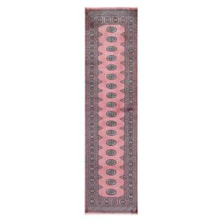 Herat Oriental Pakistani Hand-knotted Tribal Bokhara Salmon/ Ivory Wool Rug (2'6 x 9'8)