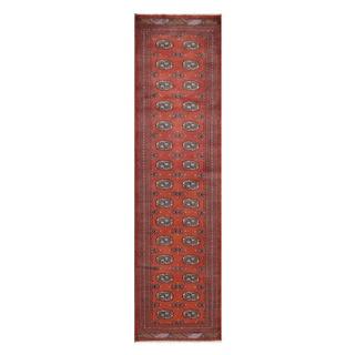 Herat Oriental Pakistani Hand-knotted Tribal Bokhara Wool Runner (2'7 x 9'9)