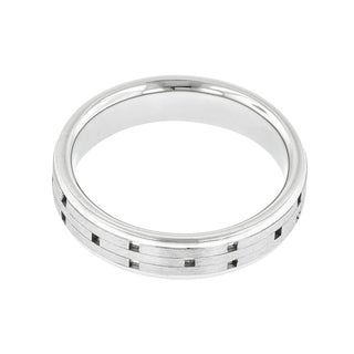 Palladium Men's Engraved Wedding Band