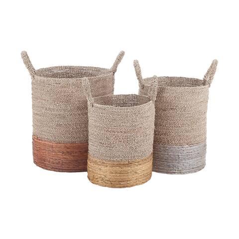 Dimond Home Mixed Metallics Set of 3 Nesting Baskets