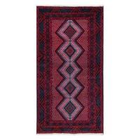 Handmade Herat Oriental Afghan Tribal Balouchi Wool Rug  - 3'7 x 6'10 (Afghanistan)