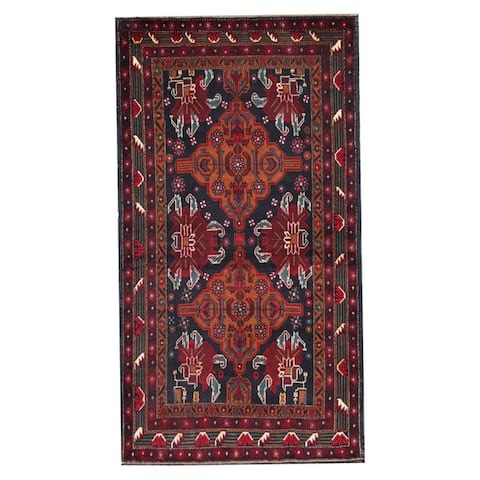 Handmade Balouchi Wool Rug (Afghanistan) - 3'8 x 6'8
