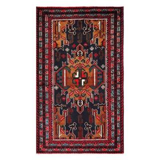 Herat Oriental Afghan Hand-Knotted Tribal Balouchi Wool Rug (3'9 x 6'7)